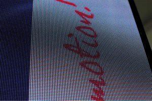 LED-Bildwand - Nahaufnahme der einzelnen Bildpixel